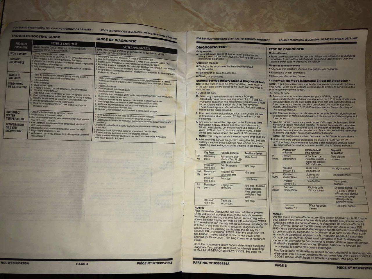 Whirlpool Washer Model Wfw9151yw00 Service Manual Iskander Washing Machine Repair Diagram View 0likes 140 Views More